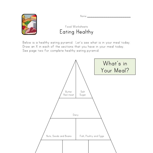 Printables Healthy Eating Worksheet healthy eating worksheet syndeomedia
