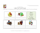 label food groups worksheet