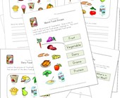 food group worksheets