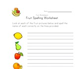 fruit spelling worksheet
