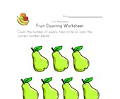 fruit counting worksheet