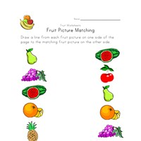 fruit matching worksheet