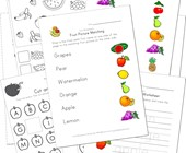 fruit worksheets