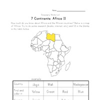 africa continent worksheet 2