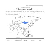 asia continent worksheet 1