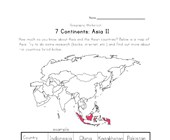 asia continent worksheet 2