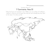 asia continent worksheet 3