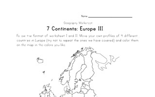 europe continent worksheet 3