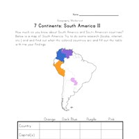 south america continent worksheet 2