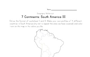 south america continent worksheet 3