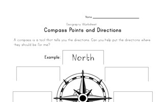 compass and directions worksheet