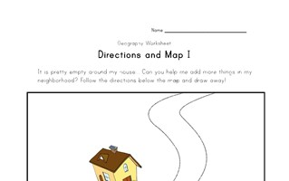 directions and map worksheet