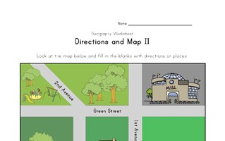 map and directions worksheet