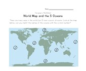 5 oceans geography worksheet