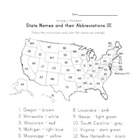7 state names and abbreviations worksheet