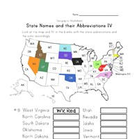u.s. states worksheet