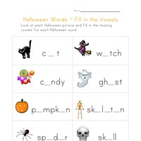 halloween words missing letters