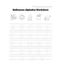 halloween worksheet - tracing capital letters