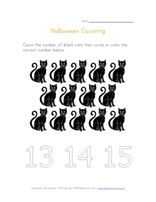 halloween counting to fourteen