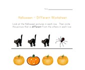 halloween different worksheet