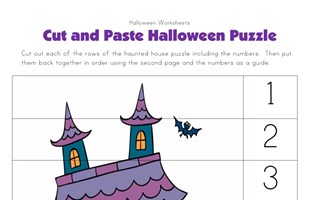 halloween puzzle worksheet