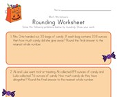 Halloween Rounding Worksheet