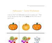 halloween same worksheet