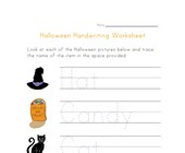 halloween handwriting worksheet