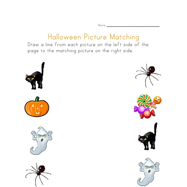 halloween picture match