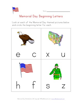 Memorial Day Worksheets for Kids | All Kids Network