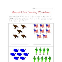 memorial day counting practice