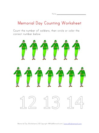 memorial day counting thirteen