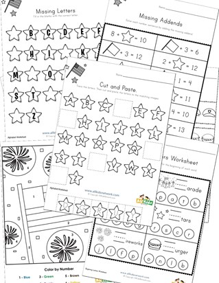 Memorial Day Worksheets for Kids