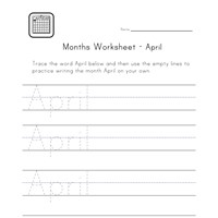 april worksheet
