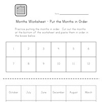 Worksheets Year Month Worksheet months worksheets all kids network