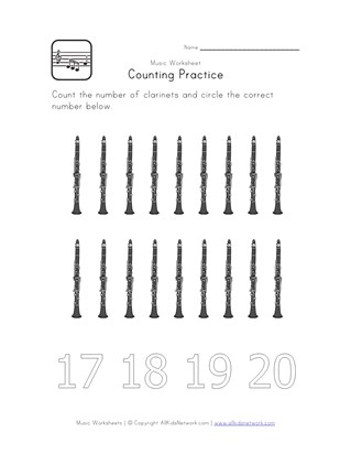 counting 18 worksheet