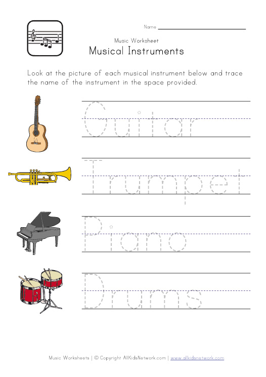 Music Worksheets - ♥ Our English Site