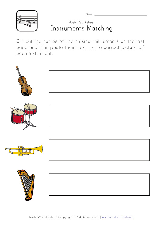 Printables. Music Worksheets For Kids. Gozoneguide Thousands of ...