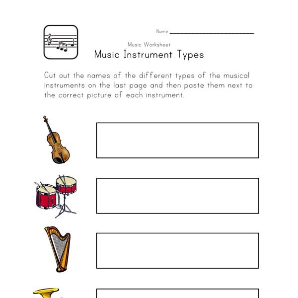 Worksheets Kindergarten Music Worksheets printable music worksheets for kids all network