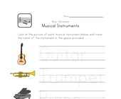 music handwriting worksheet