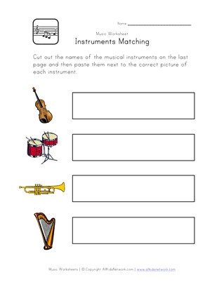 recognize instruments worksheet