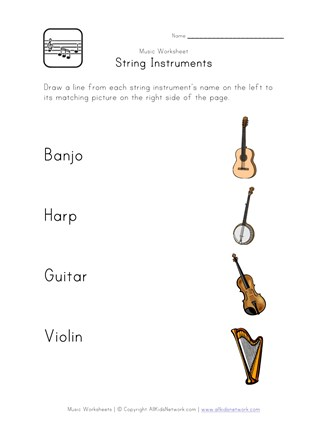 Instrument Family Worksheet - The Best and Most Comprehensive ...