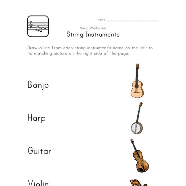 Worksheets Instrument Worksheets For Preschool printable music worksheets for kids all network