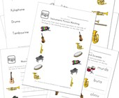 Music Worksheets for Kids