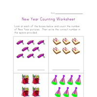 new year counting practice worksheet
