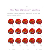 new year counting fifteen worksheet