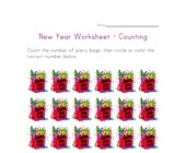 new year counting eighteen worksheet