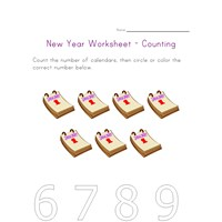 new year counting seven worksheet