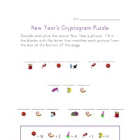 new year's cryptogram puzzle