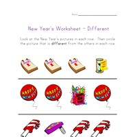 new year's worksheet different